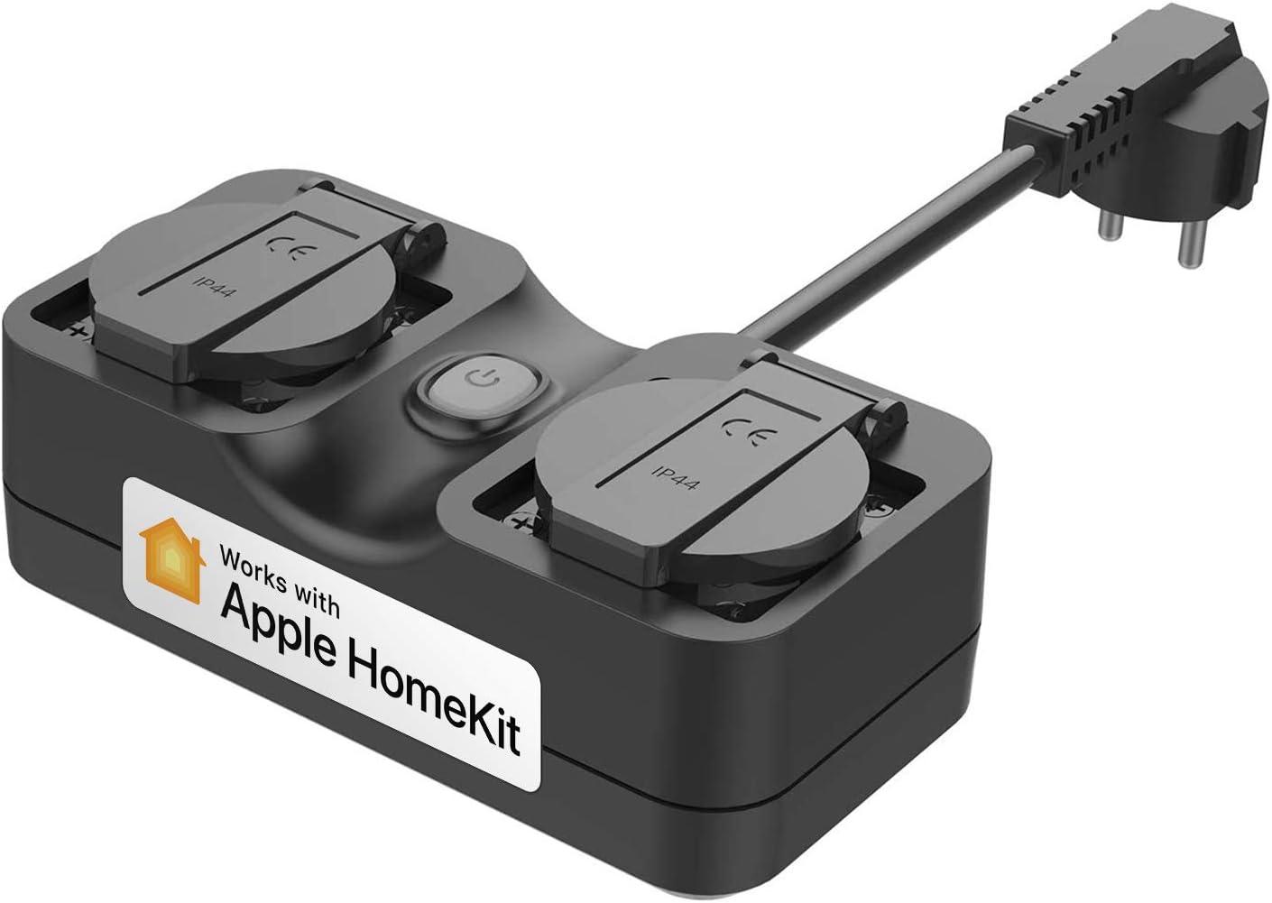 Commande Vocale et Contr/ôle /à Distance Prise /Étanche Ext/érieure pour Jardin Multiprise Intelligente WiFi Compatible avec Siri Terrasse et Pelouse Multiprise Connect/ée HomeKit Alexa et Google Home