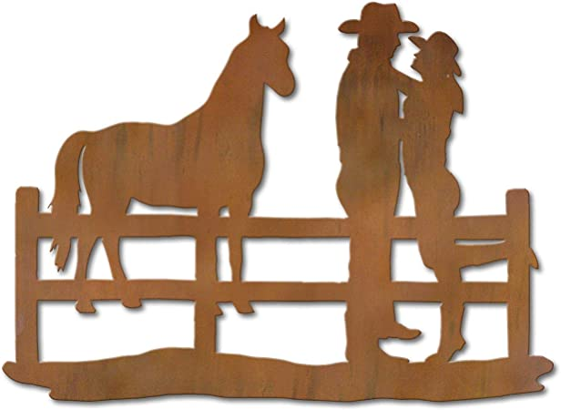 HORSE AND COWGIRL WALL HANGING