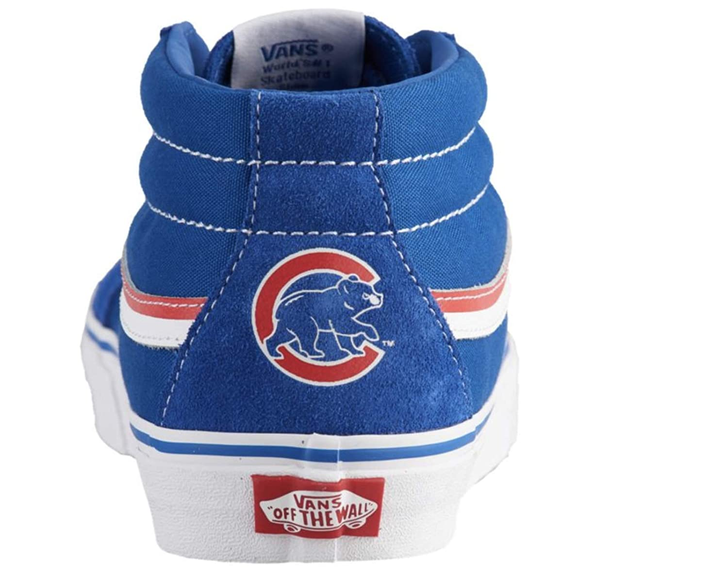 23dcd7d4c1 Amazon.com  Vans SK8 Mid Reissue Chicago Cubs MLB Baseball Red Blue White  Size Mens 5.5 Womens 7 Limited New  Shoes
