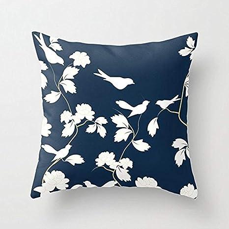 MAY-XCustom-Pillowcase Fundas para Almohada Pájaros, Ramas y ...
