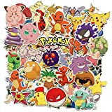 Pokemon Stickers 80 pcs, Laptop Stickers,Motorcycle Bicycle Luggage Decal Graffiti Patches for Teens (Pokemon Stickers 80 Pcs)