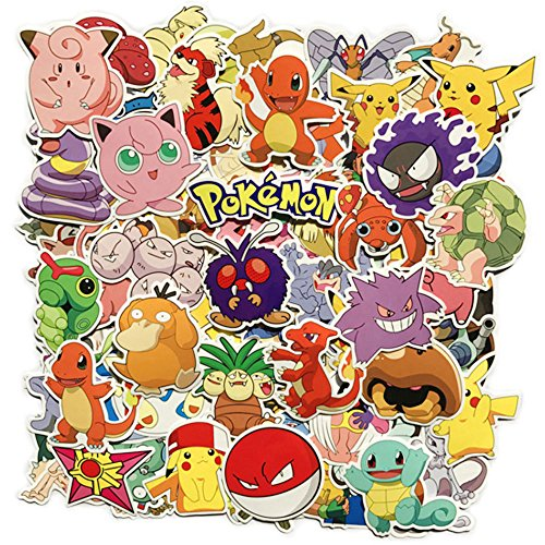 DOFE Pokemon Stickers 80 pcs, Laptop Stickers,Motorcycle Bic