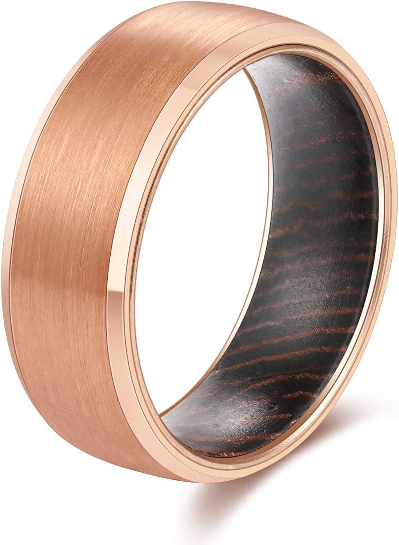 engagement ring gift for women men Wooden ring men band carbon ring women band ring wenge wedding ring