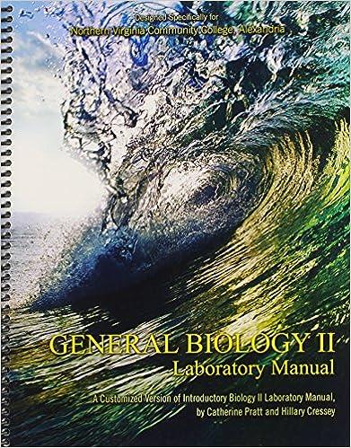Amazon general biology ii laboratory manual 9781465253309 general biology ii laboratory manual 1st edition fandeluxe Gallery