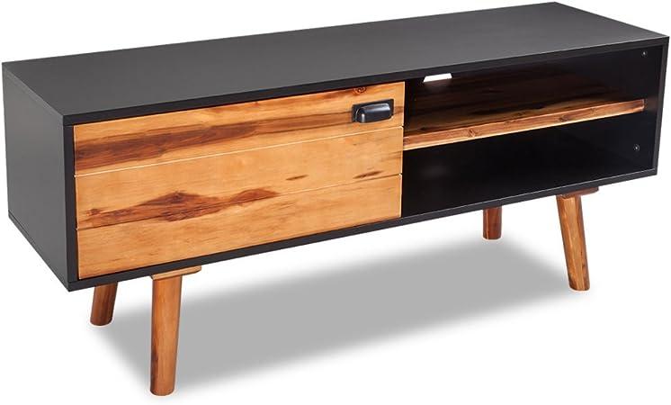 Festnight Mesa para TV Mueble de Salon para la TV Madera de Acacia 120x35x50 cm: Amazon.es: Juguetes y juegos