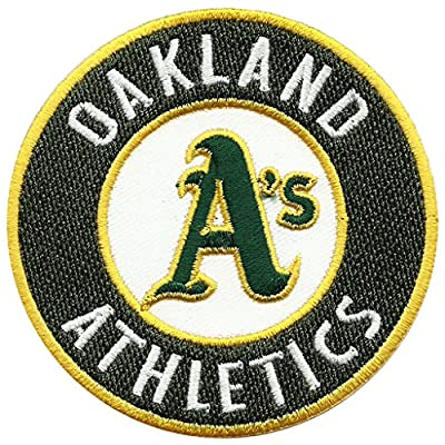 Oakland A's Athletics Primary Logo Sew Ironed On Badge Embroidery Applique Patch 3.75""