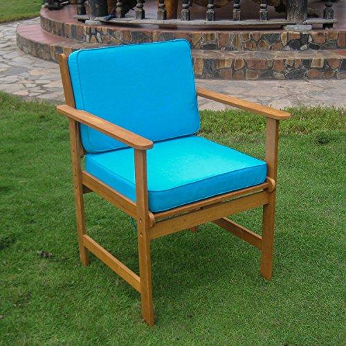 Brown Royal Tahiti Set of 2 Gulf Port Arm Chair TT-1B-006-2 CH-AB by International (Balau Solid Wood)