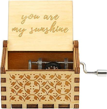 You are my sunshine Wood Hand Crank Music Box
