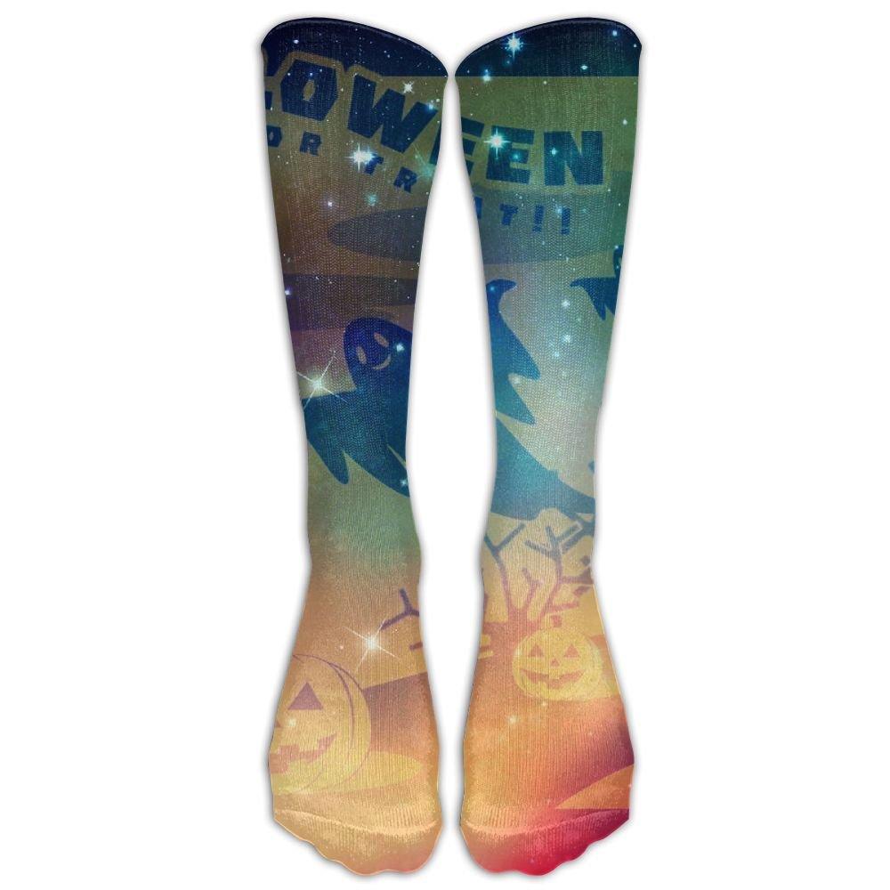 Xngtax Thigh High Socks Pumpkin Halloween Womans Mens Fashion Champion Athletic Leggings Knee High Stockings For Dress Sport