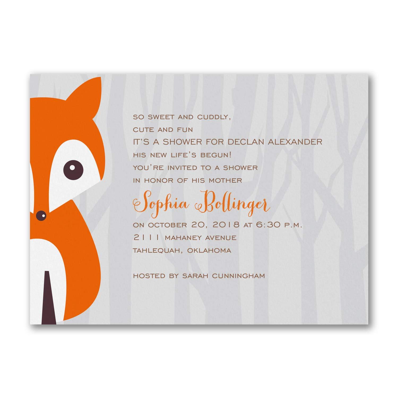 225pk Alphabet Fox Boy - Baby Shower Invitation-Baby Shower Invitations