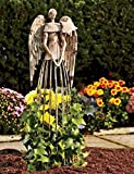 YK Decor Antiqued Metal Garden Angel Statue Patio Lawn Yard Indoor Outdoor Decorations (25.5″) Review