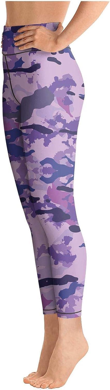 Womens Colorful Camouflage Camo Purple Novel Easy Care Leggings Yoga Leggings