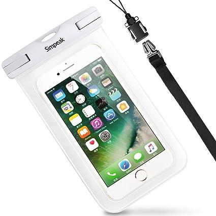 foto ufficiali a3c96 2ffd0 Simpeak(IPX8 Certificato Custodia Impermeabile Subacquea Universale per  Smartphone 5.8