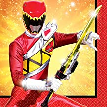 Power Rangers Dino Charge Birthday Party Beverage Napkins Tableware, 16 Pieces, Made from Paper, by Amscan