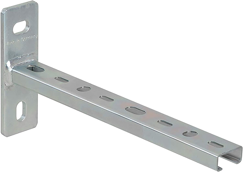 QPOOL24 Werkstoff Stahl 25 St/ück Grundplatte 120x40x4 mm Materialst/ärke Schienenabschnitt 1,75 mm Schienenkonsole Profil 28//30 240mm galvanisch verzinkt Profil 28//30