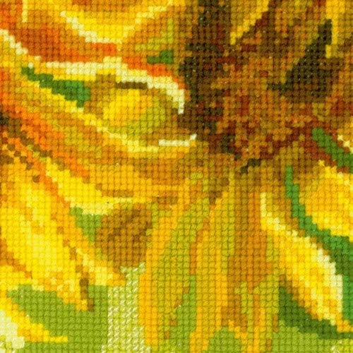 "/""Sunflowers Cushion/"" Counted Cross Stitch Kit RIOLIS 1530"