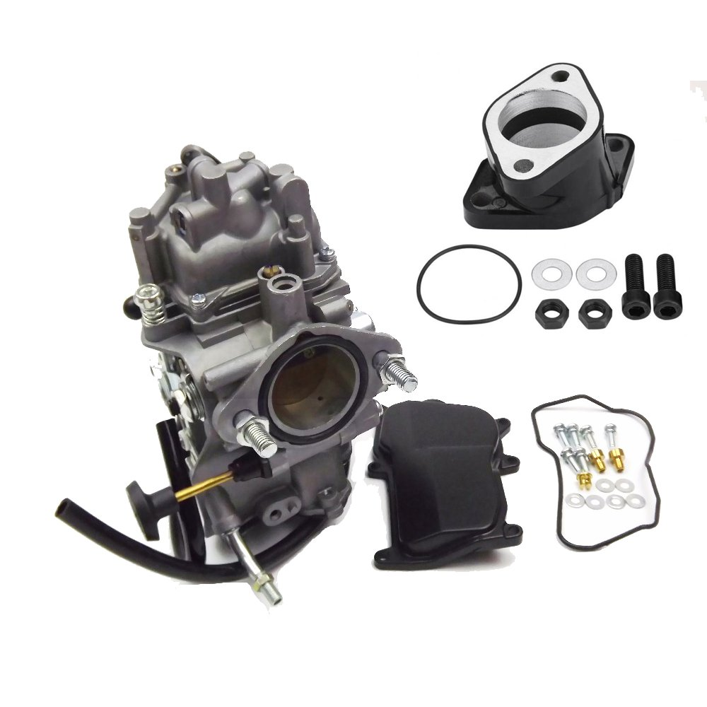 YFM350 Carburetor w/Intake Manifold for Yamaha Big Bear Warrior Wolverine Moto-4 YFM 350 Yfm350 ATV Quad 1987-1998