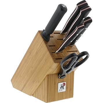 Miyabi Red Morimoto Edition 7 Pc Knife Block Set