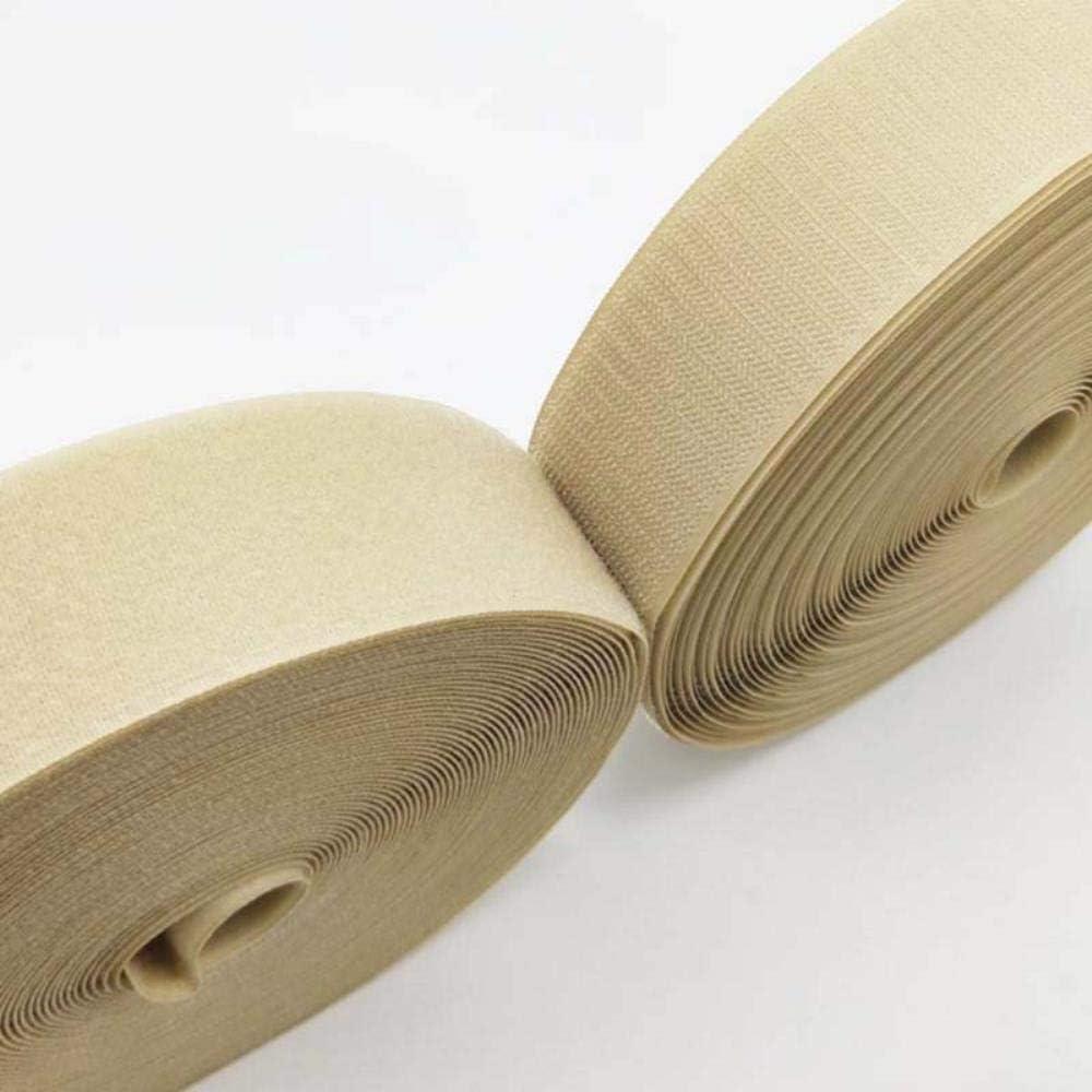WDNMD 2//2,5 cm 4//5 Anchura de Banda Ciclo Gancho Adhesivo Magia Cinta Ropa Nylon Costura Individual Stick velcroing Cinta Velcro,2 cm Ligth Caqui