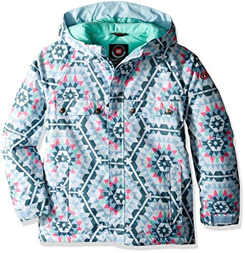 (686 Girls' Dream Insulated Waterproof Ski/Snowboard Jacket| Ice Blue - L)