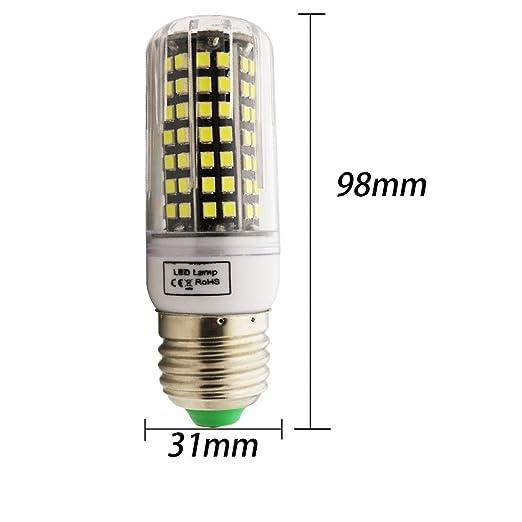 7W E27 Maíz Bombillas LED,560 Lumen Blanco frío 6000k ...
