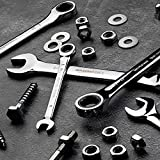AmazonBasics Ratcheting Wrench Set - Metric and