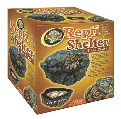 Large Zoo Med Reptile Shelter 3 in 1 Cave