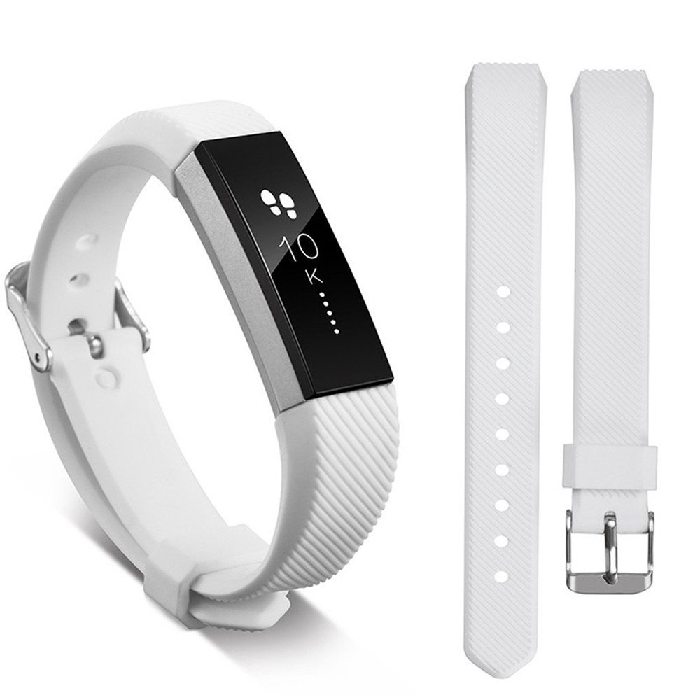 Ugood_ 2019 Replacement Wrist Band Silicon Strap for Fitbit Alta/Alta HR Smart Watch Bracelet (White)