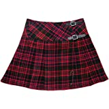 "Scottish Femme Mini Royal Stewart Tartan Kilt//Femmes Jupe 16/"" Long Kilt Pin"