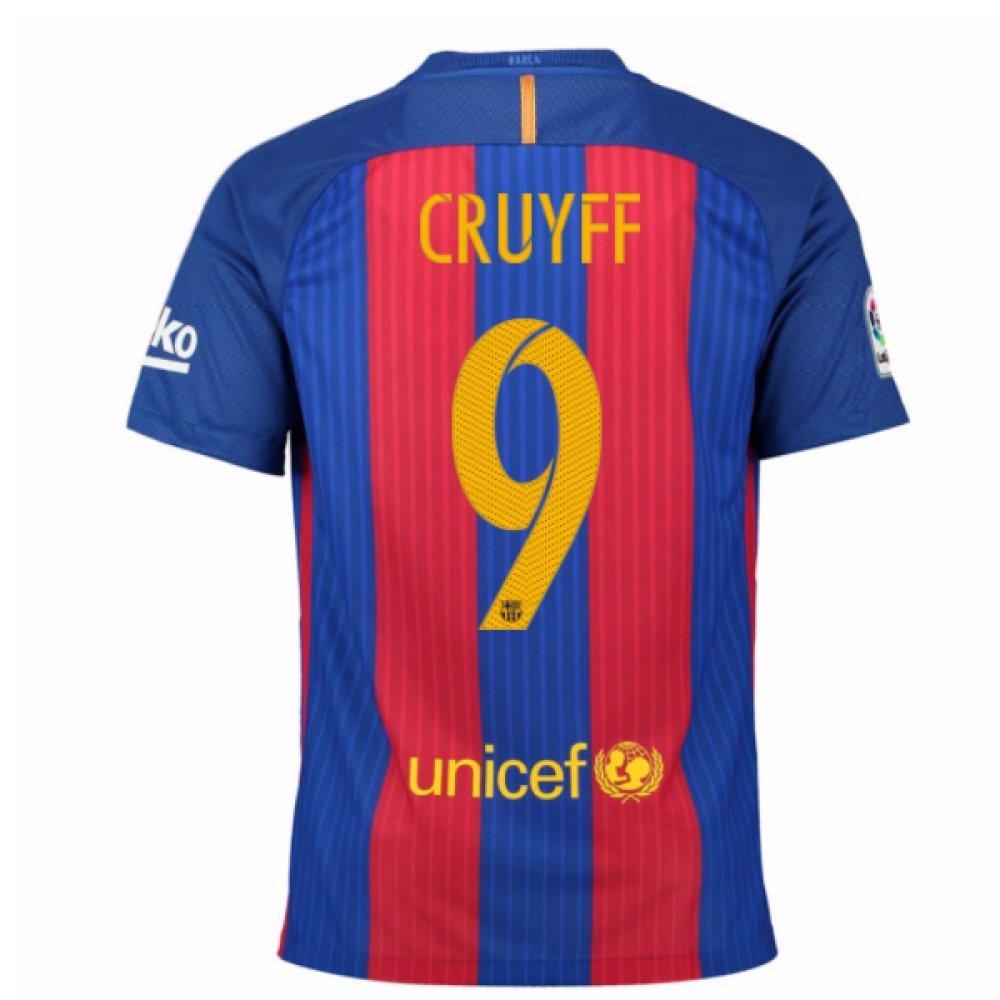 2016-17 Barcelona Home Shirt (Cruyff 9) Kids B0785QRYX6Red XLB 32-35\