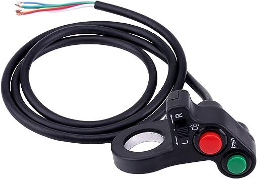 Proster Motorrad Dual Switch Motorrad Lenker Schalter 7//8Lenker Schalter on Off Schalter F/ür Scheinwerfer Nebelscheinwerfer Blinklicht Warnlicht