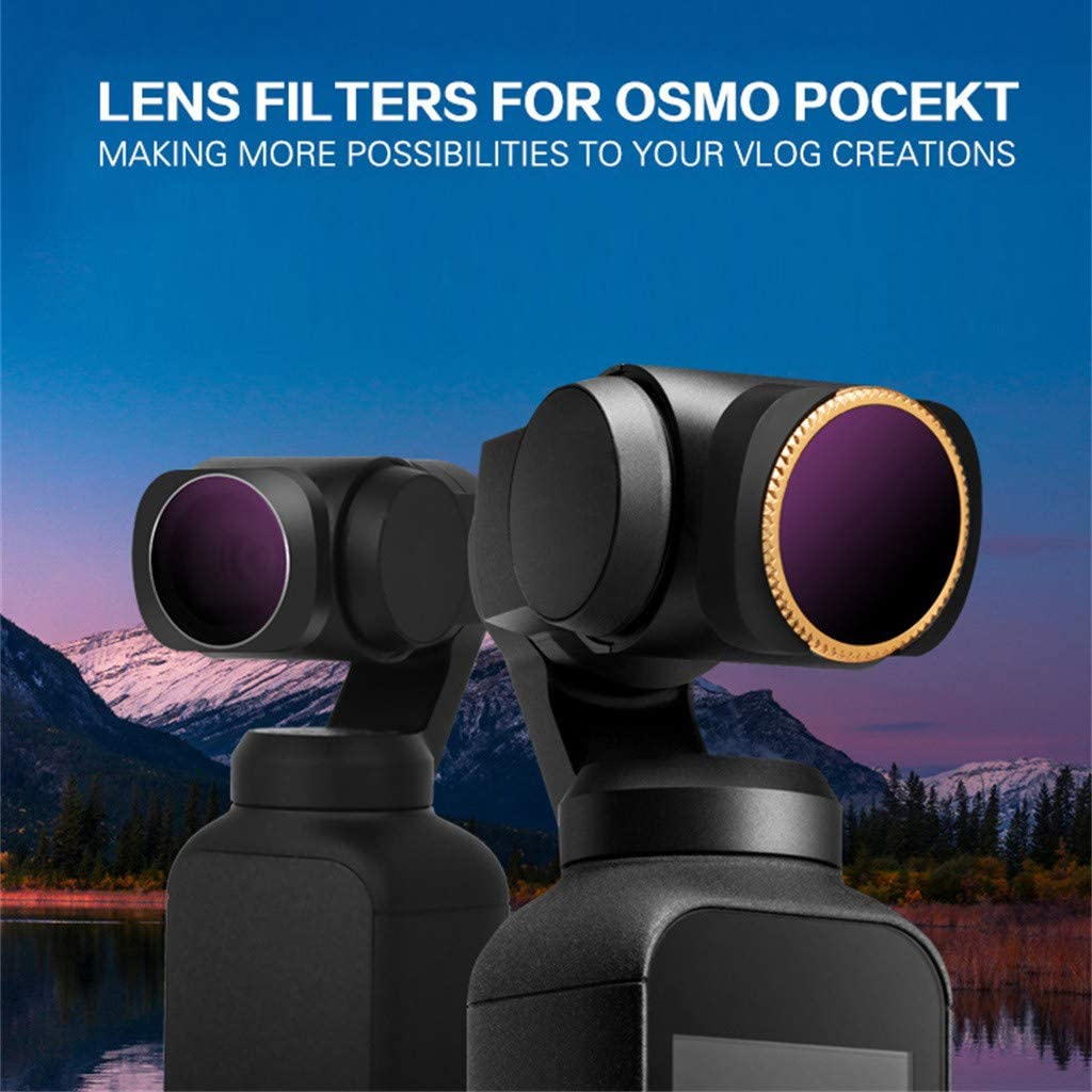 CPL ND16//PL ND8//PL 8Pack ND4 Tronet All Day ND32//PL 4K Series ND8 ND16 ND74//PL Camera Lens Filters Compatible with DJI Osmo Pocket