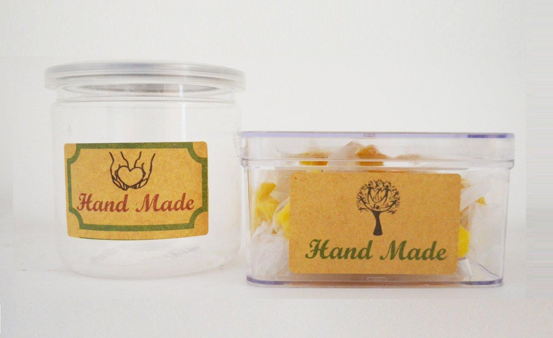 Manos artesanas Tama/ño: 105 * 148.5mm Finishing Touch Mr-Label/® 4pcs en blanco Kraft etiquetas engomadas adhesivas -Self para la decoraci/ón de regalos 25 Sheets//100 pcs Label