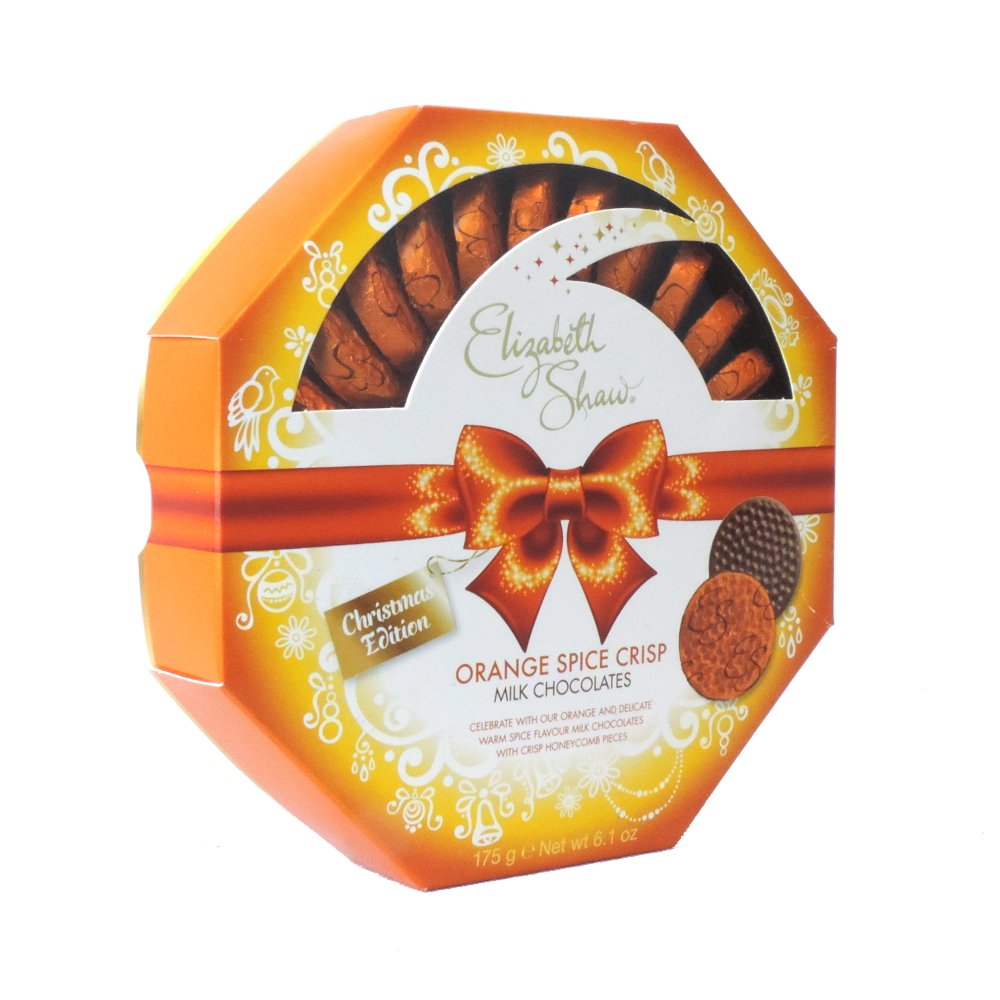 Elizabeth Shaw - Spiced Orange Mint Crisp Dark Chocolates - 175g (Case of 8)