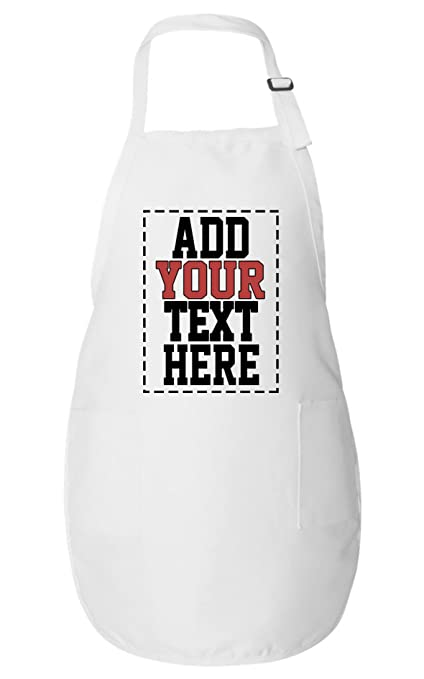 Personalized Aprons For Women Men Add Your Text Number Custom Apron With Pockets