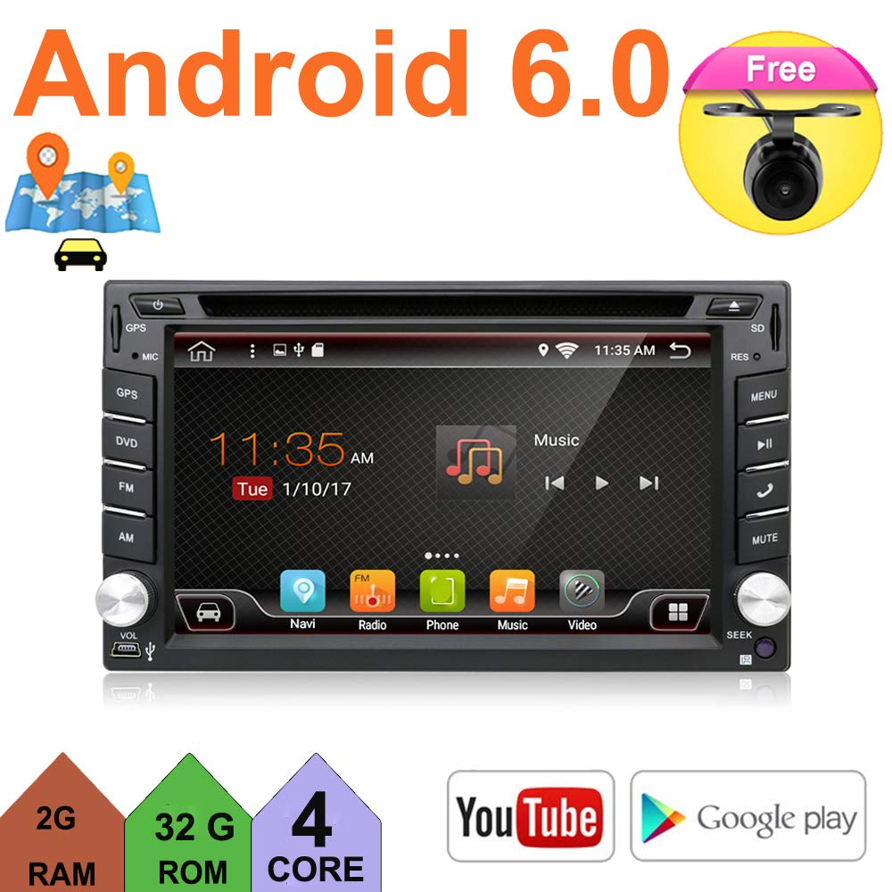 Upgrade Version Quad Core WIFI Model Android 6 0 T3 Model Universal In Dash  Double din 6 2