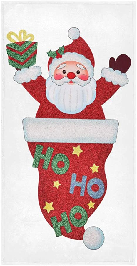 Christmas Towels Santa Claus Snowman Pattern Towel Bath Christmas Gifts HO
