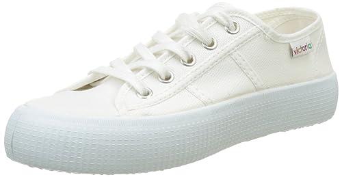 Victoria Basket Lona Gruesa, Zapatillas para Mujer, Blanco, 37 EU