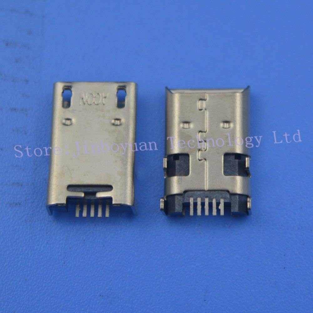 Gimax 50PCS Tablet Micro USB Jack For ASUS MeMO Pad 10 ME102A ME372 ME301 K00E ME302 ME180 ME102 k00F ME301T k00f Micro USB Connector
