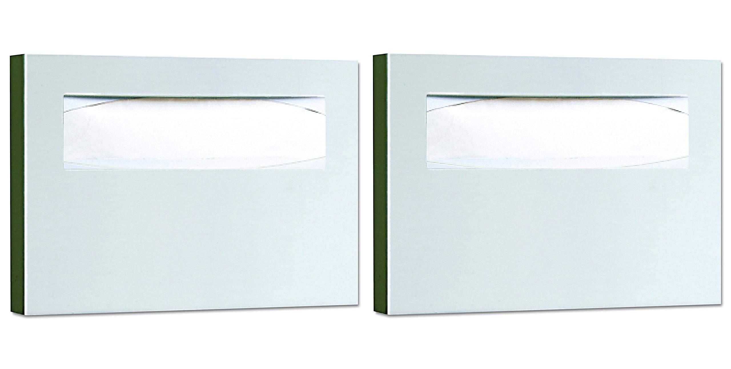 Bobrick 221 Stainless Steel Toilet Seat Cover Dispenser, 15 3/4 x 2 x 11, Satin Finish (Pack of 2)