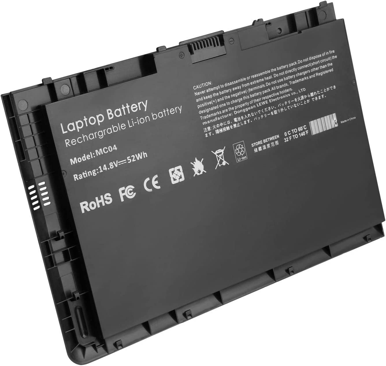 14.8V 3600mAh Replacement Battery BT04XL for HP EliteBook Folio 9470 9470M 687945-001 687517-171 HSTNN-IB3