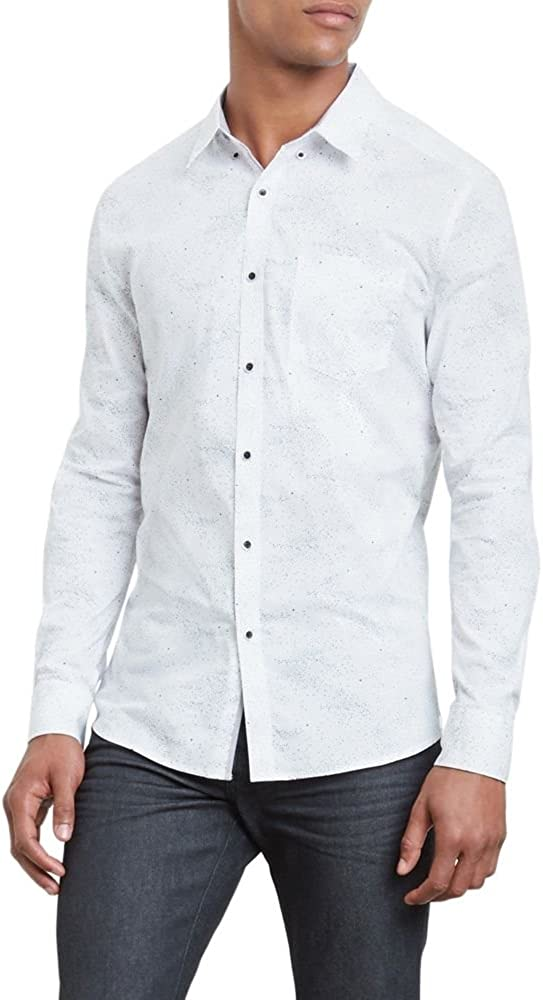 Kenneth Cole New York Mens Stars Print Shirt