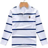 Polos de manga larga - Camiseta de manga larga para niños, algodón, diseño de rayas