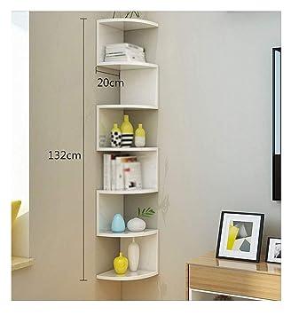 Wall Bookshelf Corner Rack Storage Hanging Frame