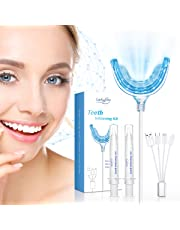 Teeth Whitening, Luckyfine High Quality Tooth Whitening Gel Kit, Non-Peroxide Set, Professional Teeth Whitening Set, Quickly Remove Surface And Deep Stains, 4 Adapters for iPhone, Android and USB, Easy to Use