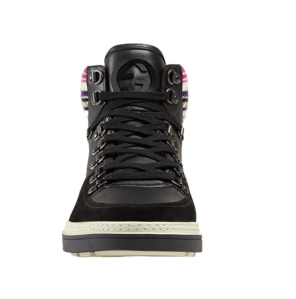 364f7c268caf Amazon.com  Gucci Men s Black Contrast Combo GG High Top Sneakers Shoes