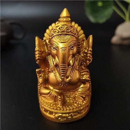 DIAOSUJIA Ganesha Estatua De Buda De Oro Escultura Dios Elefante Ganesha Figuras Decorativas para El Jardín Página Principal Accesorios Decoración Estatuas: Amazon.es: Hogar
