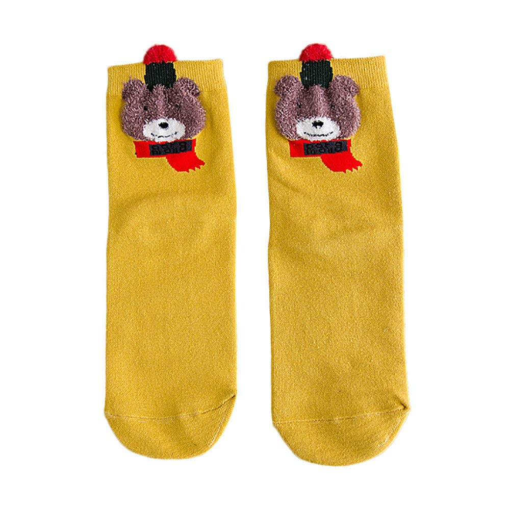 Pausseo Comfortable Christmas Printed Cotton Sock Slippers Short Print Ankle Socks Sweat Deodorant Anti-Slip Bed Sleep Skateboard Unisex Floor Sports Stocking Coral Fleece Fashion Girls Sock