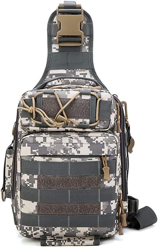 HONGHUIKE Sling Mochila Bolso de Hombro Sling Chest Pack Crossbody Bag Riding Sports Mochila Multiusos for Acampar Trekking Rover Sling Backpack (Color : ACU Digital): Amazon.es: Hogar