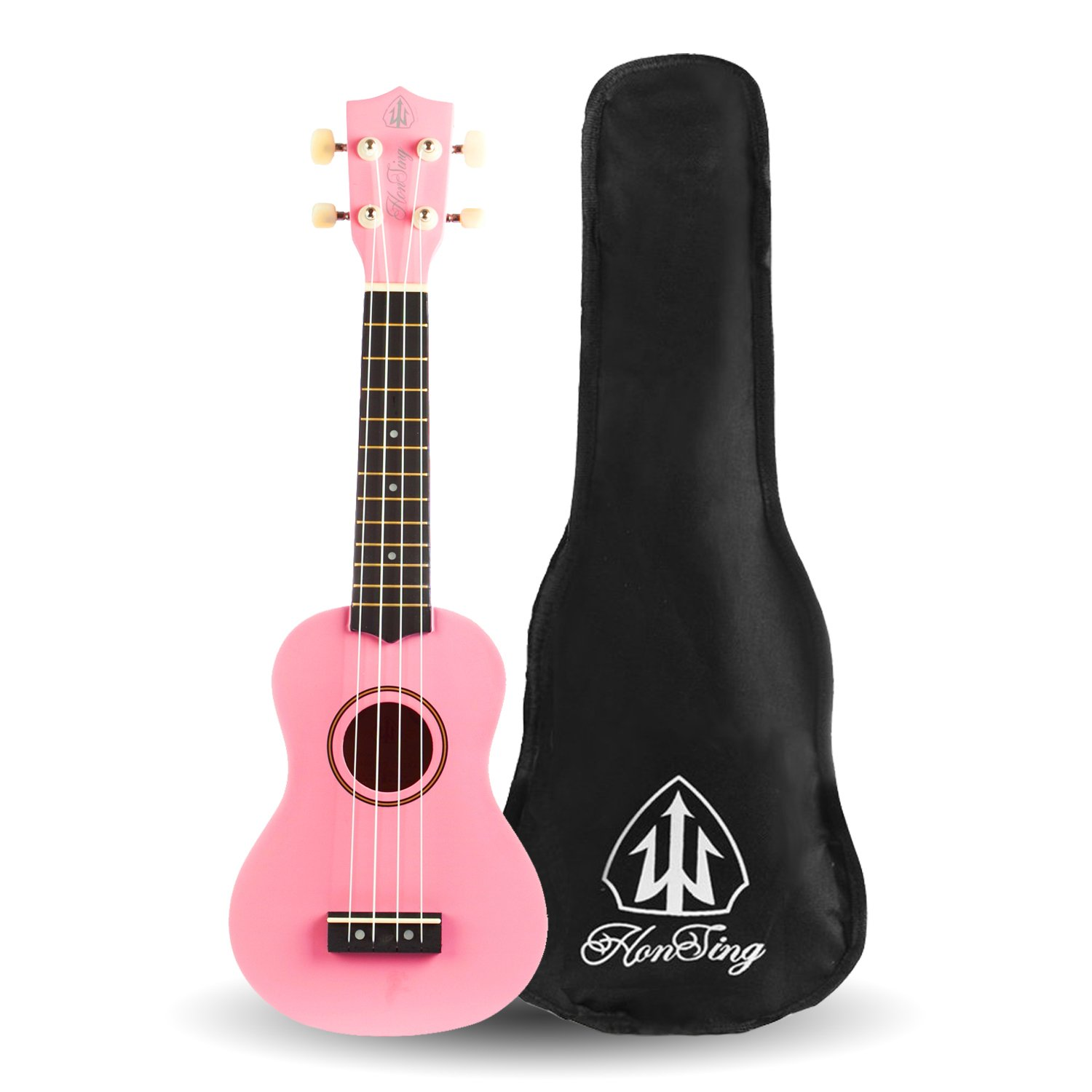 Honsing Soprano Rainbow Ukulele Beginner Hawaii kids Guitar Uke Basswood 21 inches with Gig Bag- Red Color matte finish HS-21-Red12018
